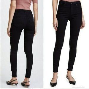 AG Knit Luxe Farrah High-Rise Skinny Jeans Black
